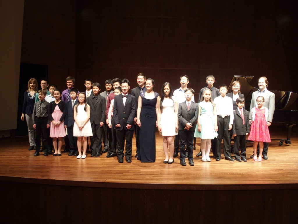 some of our students and faculty during the CAM's 2015 Honors Concert at Benaroya
